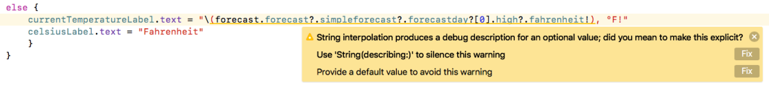 Swift String Interpolation Warning